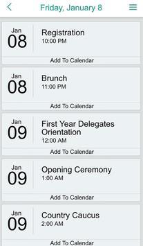 YMCACE MUN App apk screenshot