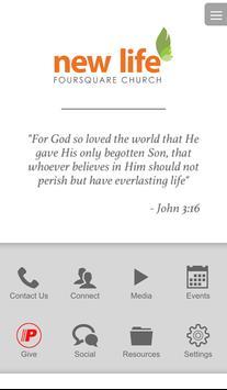 New Life Foursquare Church, CA poster