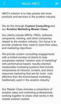 Aviation Marketing by ABCI screenshot 1