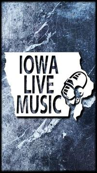 Iowa Live Music poster
