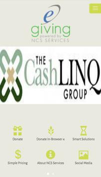 e-giving by NCS Services poster