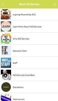 e-giving by NCS Services apk screenshot