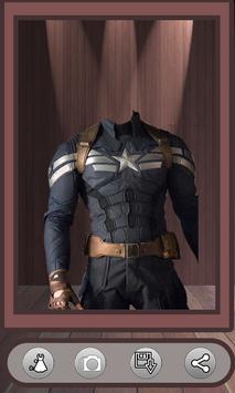Superhero Face Photo Suit poster