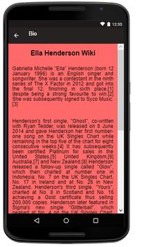 Ella Henderson Songs+Lyrics Ekran Görüntüsü 1
