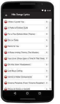 Ennio Morricone Songs+Lyrics screenshot 2