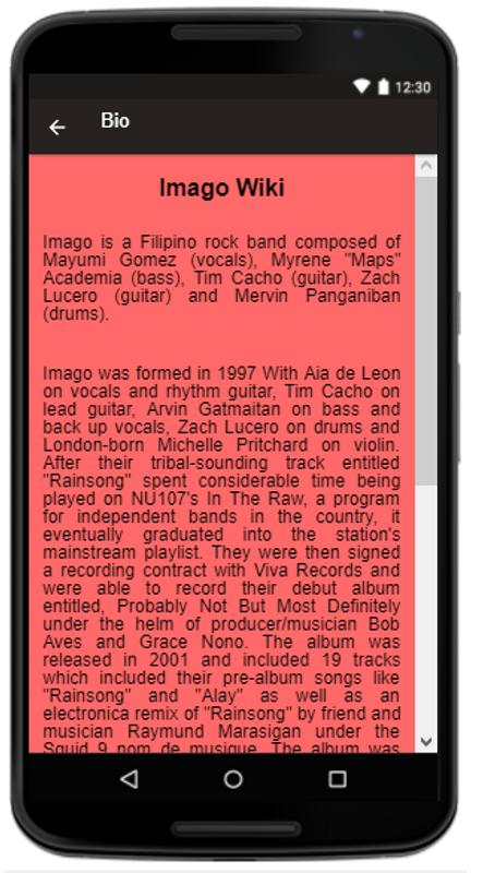 Imago Songslyrics Apk Download Free Entertainment App For Android