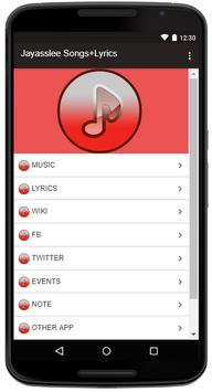 Jayasslee Songs+Lyrics poster