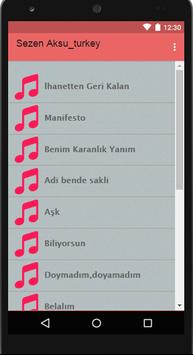 SEZEN AKSU - Top Tracks Ten apk screenshot