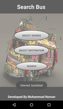 Karachi Bus Route Locator screenshot 1