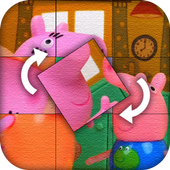 Puzzle For Peppa And Pig icon