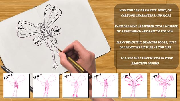Learn to draw Winx and Winx screenshot 2