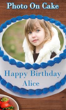 Photo on Cake - Cake Photo Editor - Name On Cake poster