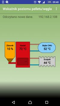 Wskaźnik poziomu pelletu/węgla poster