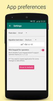 Quadratic Equation Solver PRO स्क्रीनशॉट 7