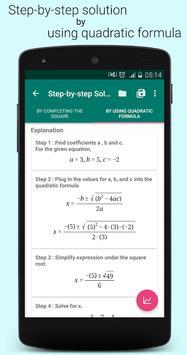 Quadratic Equation Solver PRO स्क्रीनशॉट 10