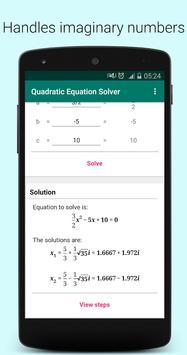 Quadratic Equation Solver PRO स्क्रीनशॉट 14