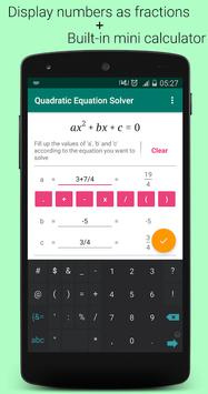 Quadratic Equation Solver PRO स्क्रीनशॉट 3