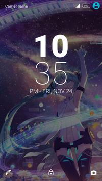 Hatsune Miku - Xperia theme apk screenshot