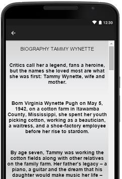 Tammy Wynette Music Lyrics screenshot 2