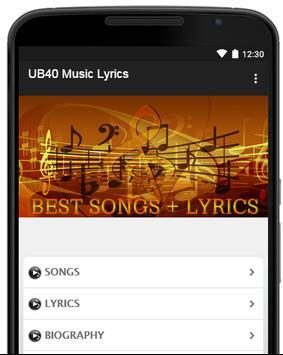 UB40 Music Lyrics poster