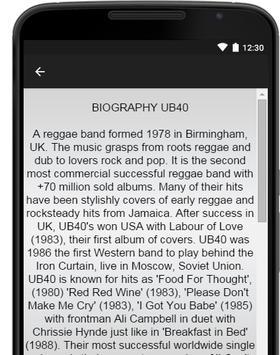 UB40 Music Lyrics apk screenshot