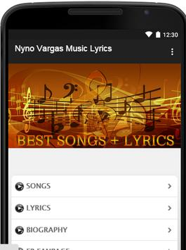 Nyno Vargas Music Lyrics poster