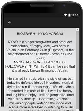 Nyno Vargas Music Lyrics apk screenshot