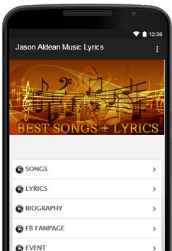 Jason Aldean Music Lyrics poster