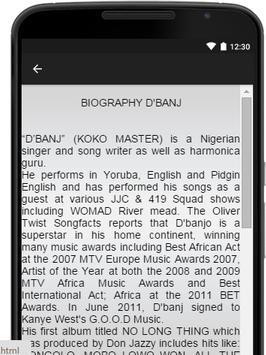 D'Banj Music Lyrics apk screenshot