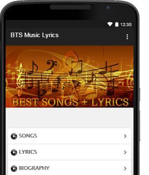 BTS Music Lyrics poster