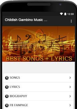 Childish Gambino Music Lyrics poster
