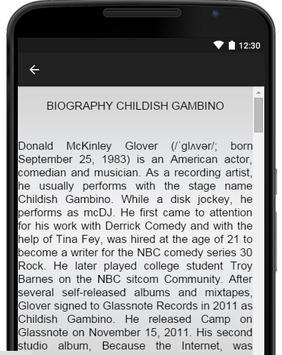 Childish Gambino Music Lyrics screenshot 2