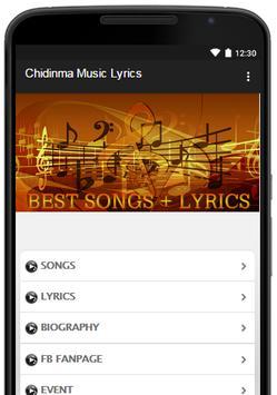 Chidinma Music Lyrics poster