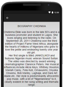 Chidinma Music Lyrics screenshot 2