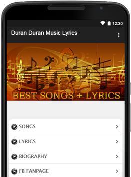 Duran Duran Music Lyrics poster