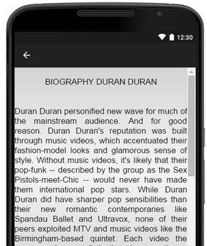 Duran Duran Music Lyrics screenshot 2