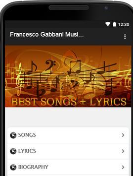 Francesco Gabbani Music Lyrics poster