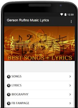 Gerson Rufino Music Lyrics poster