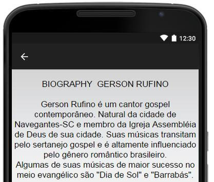 Gerson Rufino Music Lyrics screenshot 2