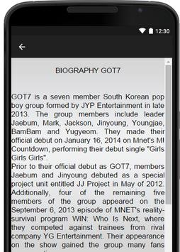 GOT7 Music Lyrics apk screenshot