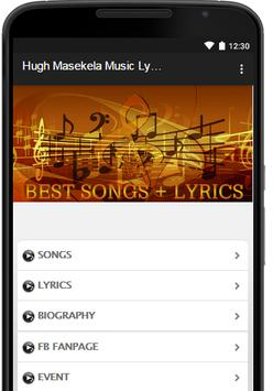 Hugh Masekela Music Lyrics poster