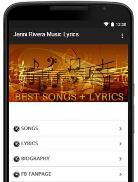 Music-Lyrics Jenni Rivera poster