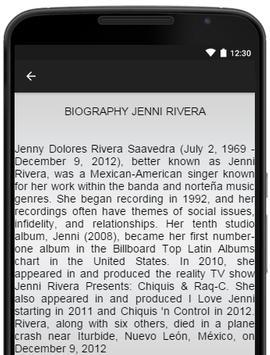 Music-Lyrics Jenni Rivera screenshot 2