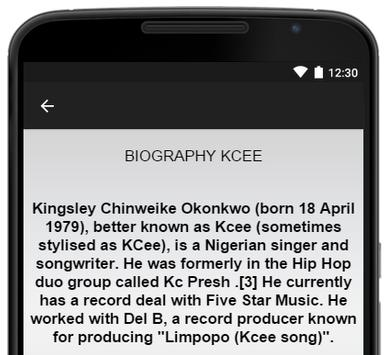 Kcee Music Lyrics apk screenshot