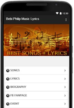 Music-Lyrics Bebi Philip poster