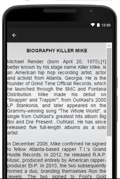 Killer Mike Music Lyrics apk screenshot