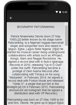Patoranking Music Lyrics apk screenshot