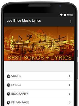 Lee Brice Music Lyrics poster