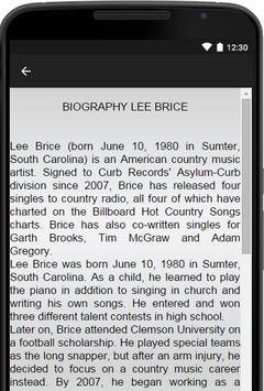 Lee Brice Music Lyrics apk screenshot