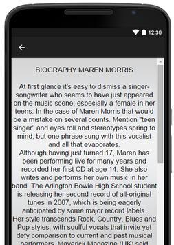 Maren Morris Music Lyrics apk screenshot